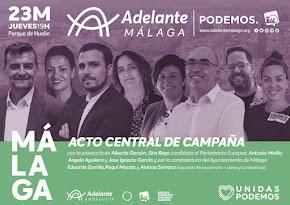 Acto Central de Adelante Málaga con Alberto Garzón