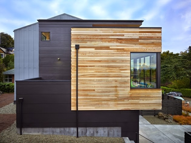 Rumah ini dirancang untuk keluarga kecil Rancangan Desain Rumah Kecil Tiga Lantai