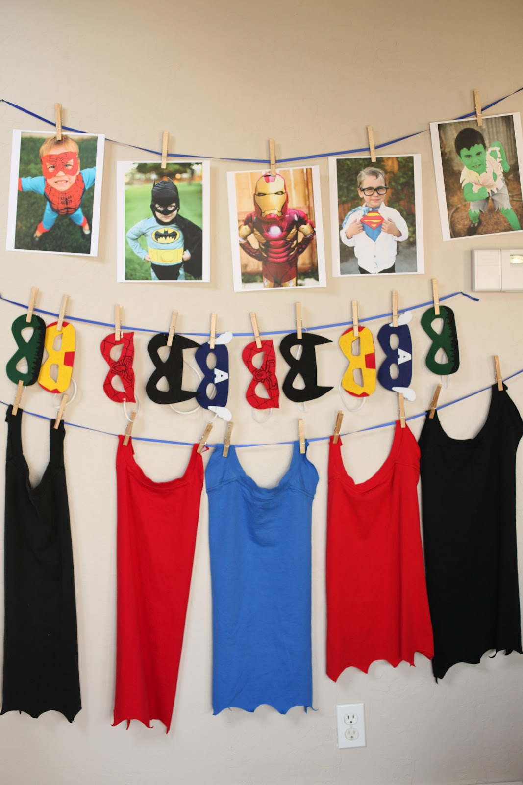 Superhero Shirts For Birthday Party
