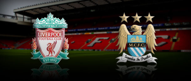 Liverpool vs Manchester City in Premier League Sunday 26 August 2012