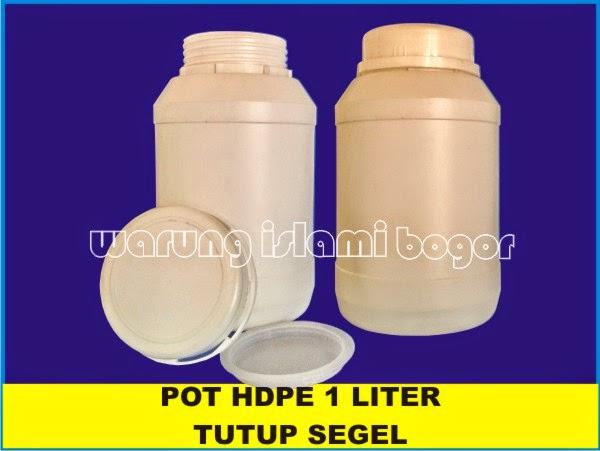 Jual Pot Lem HDPE 1kg Tutup Segel