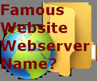 Popular Website webserver name?