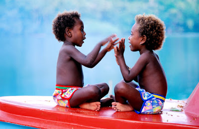 Solomon Islands - Children playing
