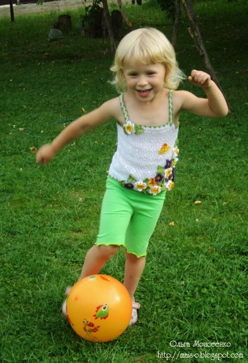 красивый летний топик на девочку