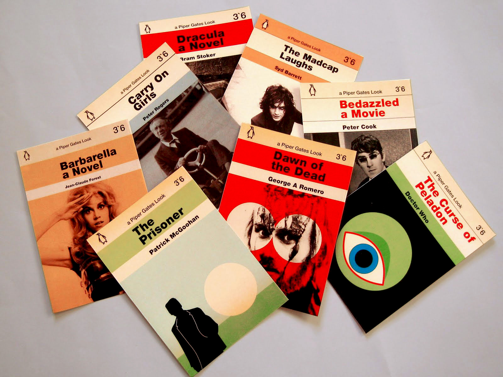 Vintage Penguin Book Cover Postcards : Piper gates design penguin books tribute postcards