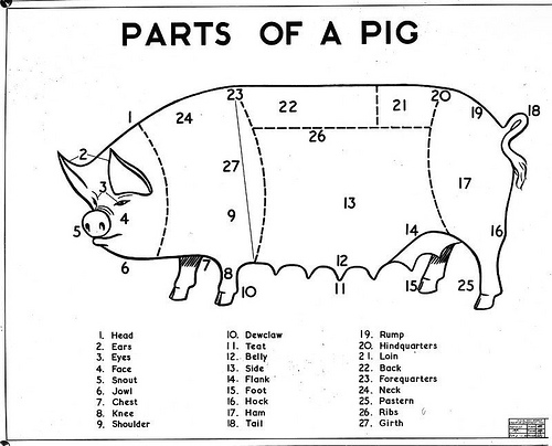 Meat Cuts And How To Cook Them Lamb Chart moreover Beef Cutting Charts And Diagrams in addition Pig Diagram as well Cure For The Rainy Day Blues likewise Rabbit. on cuts of pork