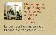 le Pape François et l'interview oubliée d' Andréa Tornielli..