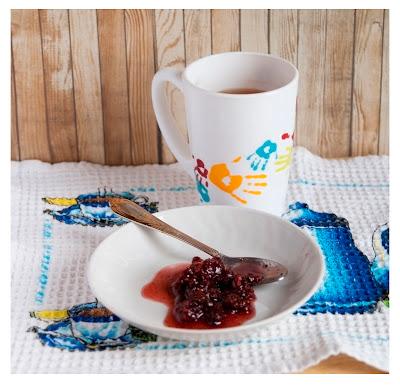 чай+малиновое варенье+зимний напиток