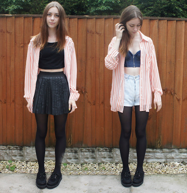 ways to wear how to wear and oversized shirt midriff