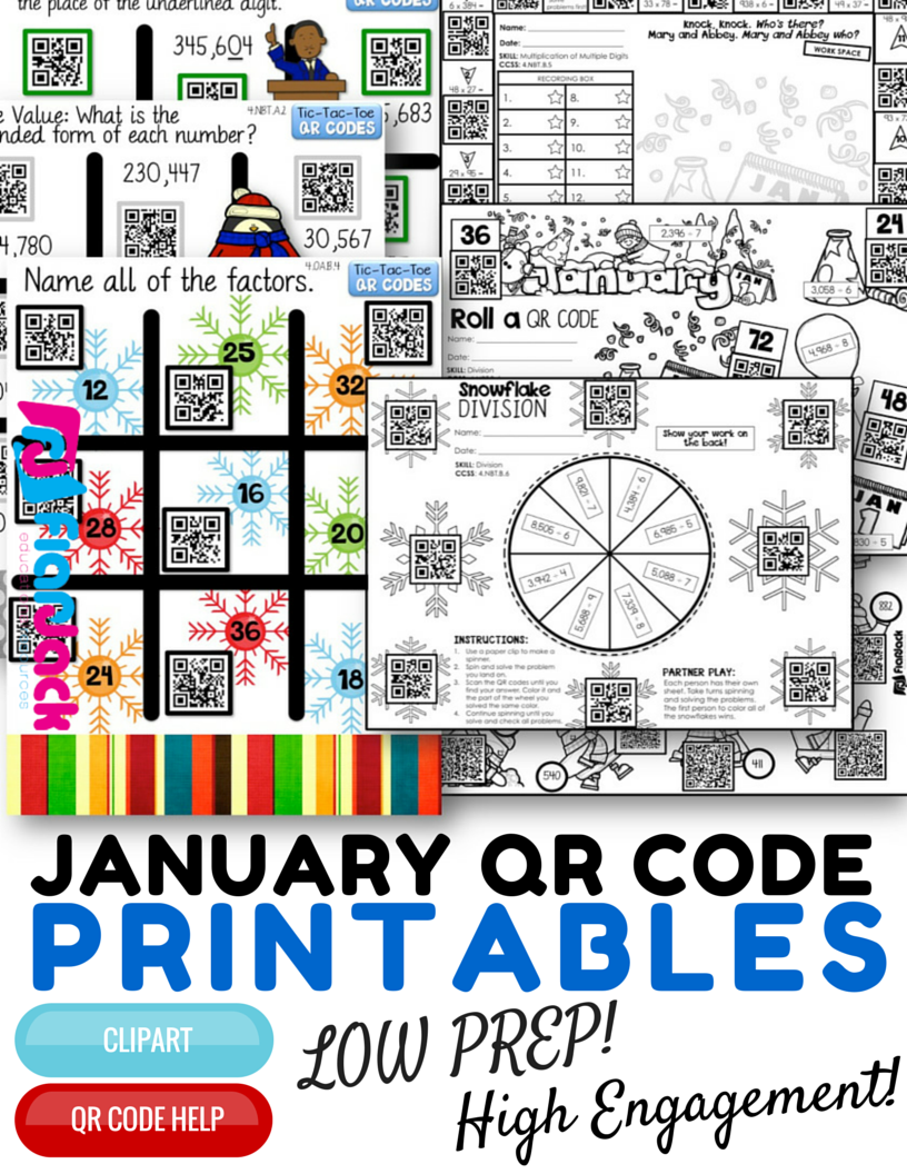 http://www.teacherspayteachers.com/Product/4th-Grade-January-Winter-QR-Code-Printables-Low-Prep-1627900