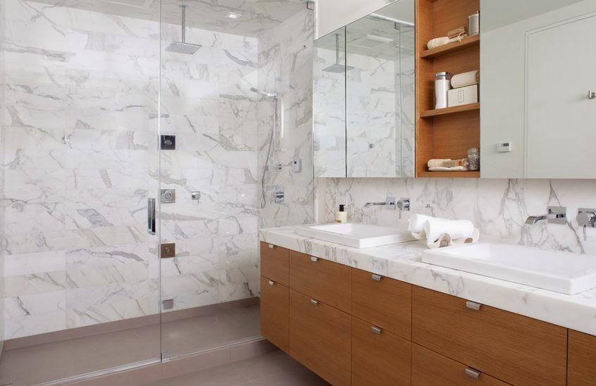 Conseils d co et relooking salles de bain en marbre design sophistiqu - Salle de bains marbre ...