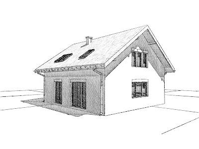 Architekt Rzeszow. Taras. Dom jednorodzinny z poddaszem użytkowym.