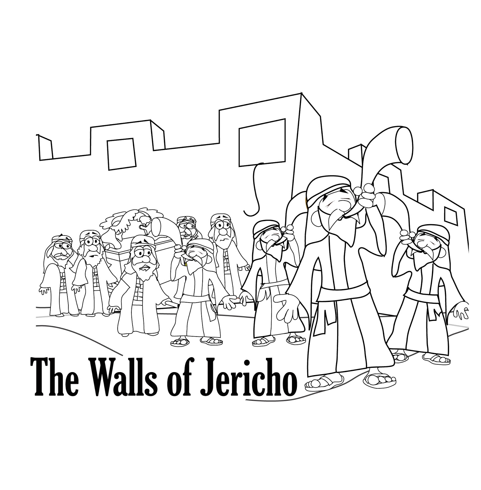 walls of jericho coloring page mr biblehead achan is exposed joshua7