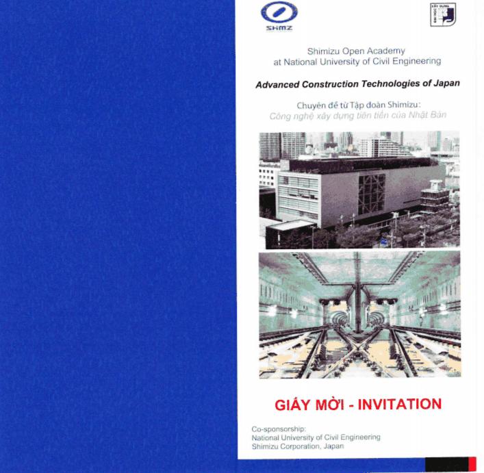 """Thông báo tổ chức Hội thảo: """"Công nghệ Xây dựng tiên tiến của Nhật Bản"""""""