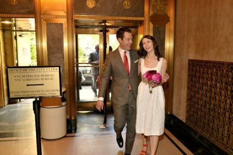 Entering City Hall NYC for Wedding!