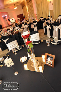black red wedding orlando