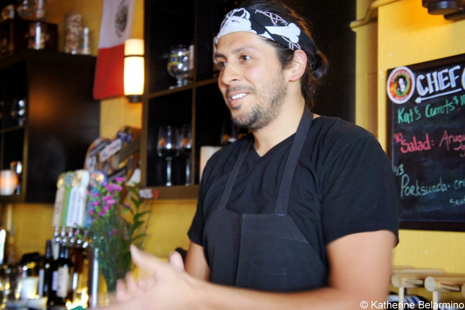 Chef Oz (Osvaldo Blackaller) of Cueva Bar in San Diego