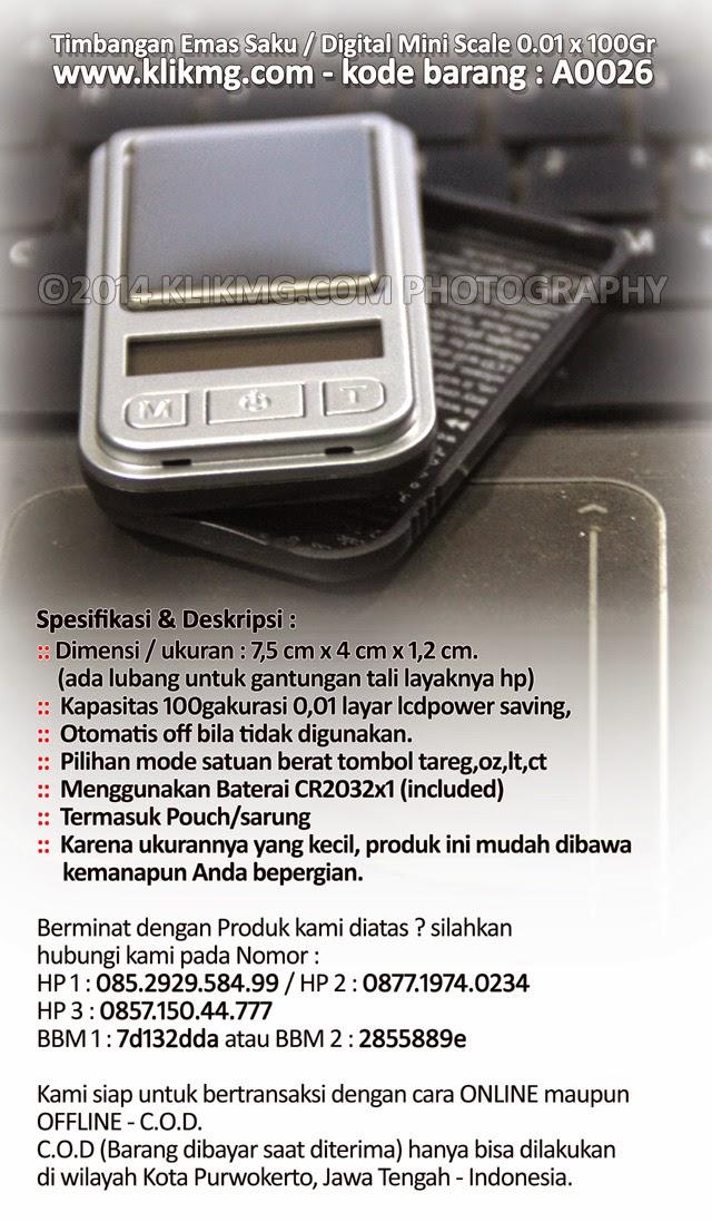 Timbangan Emas Saku / Digital Mini Scale 0.01 x 100Gr - Kode Barang : A0026 | Timbangan Saku Digital