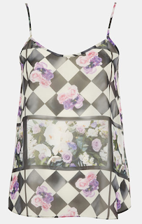TOPSHOP 'Floral Chalkboard' Print Camisole