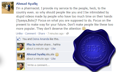 ahmad syafiq, pharmacist, attention seekers