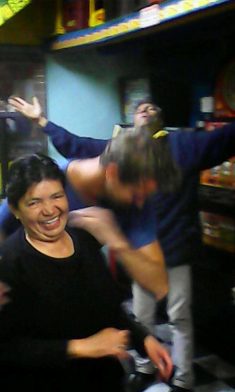 Salsa dacning in Fernando's, La Perseverancia, Bogotá D.C., Colombia.