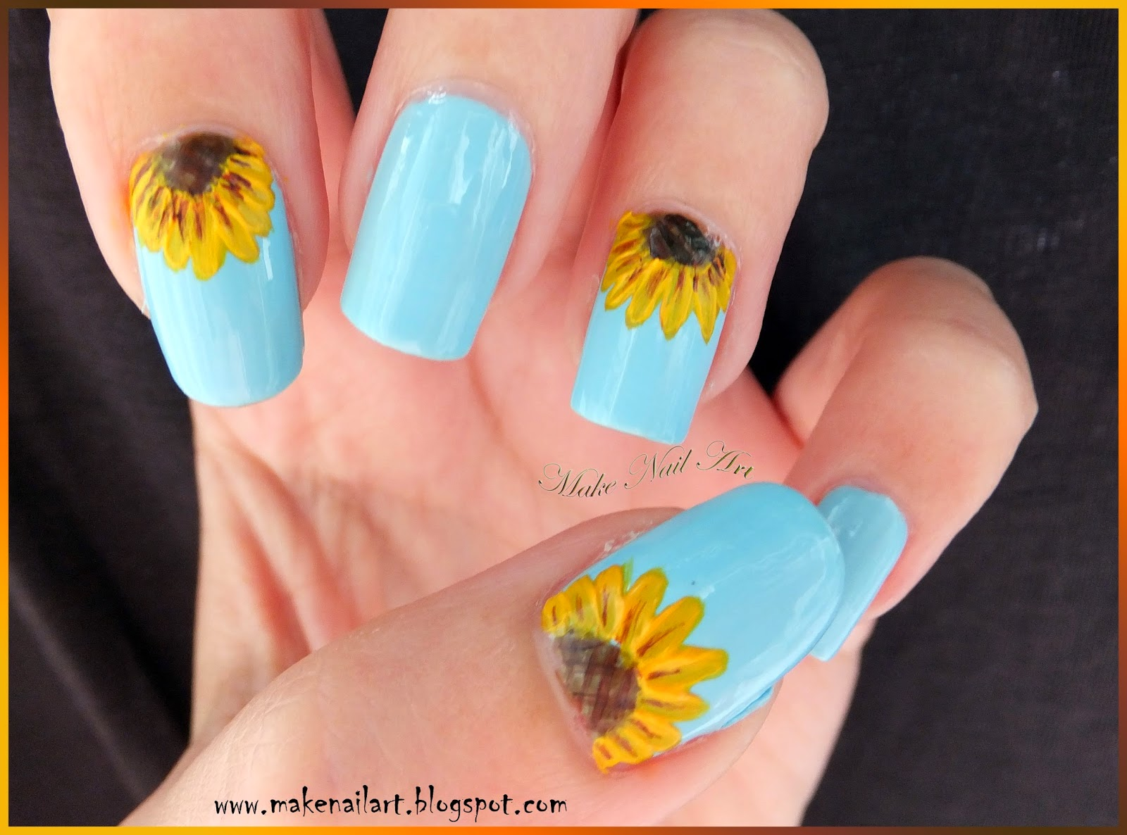 Sunflower Nail Art