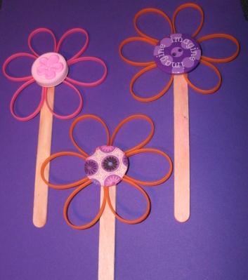 Zip Tie Flowers