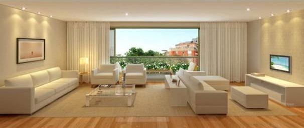 Sala De Estar Com Piso Cinza ~ Sala de estar  pisos e paredes
