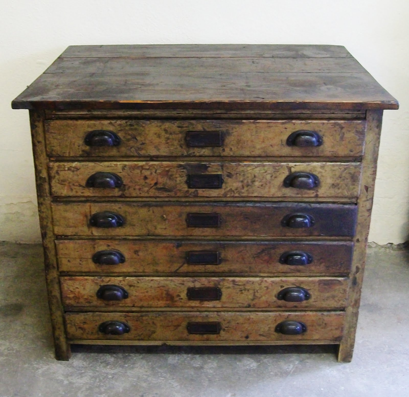 plan industrial pin drawers map drawer ebay vintage oak chest table architect