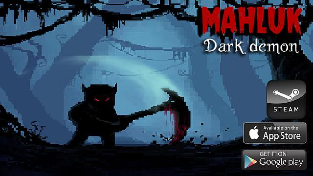 Mahluk dark demon platformer 8 bit retro game