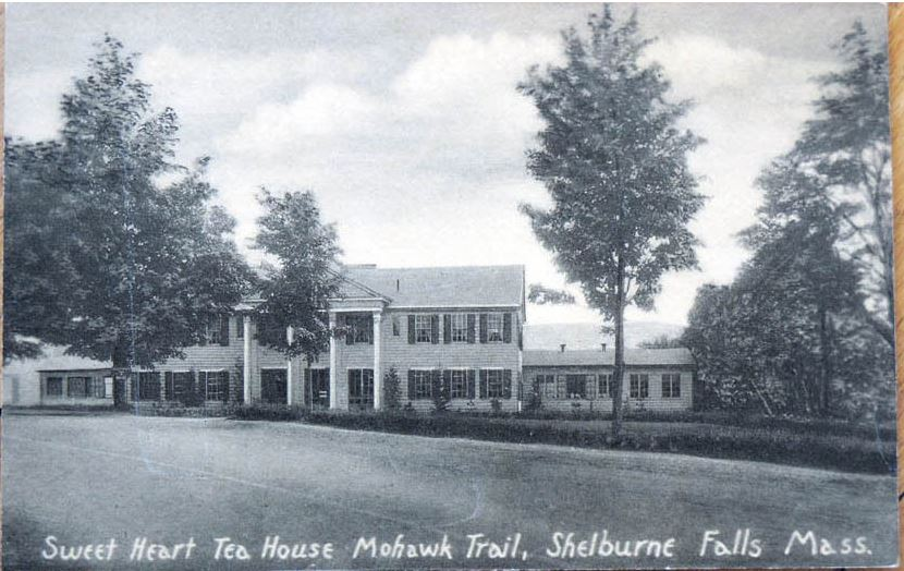 Sweetheart Restaurant, Shelburne Falls, Massachusetts, valentines day, postcard