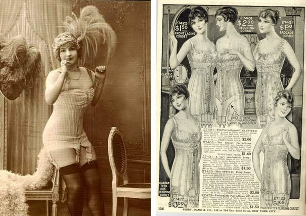 antique 1900s corset girdle lingerie photo and advertisement