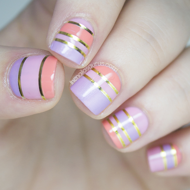 Sorbet Stripes The Nailasaurus Uk Nail Art Blog