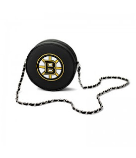 Boston Bruins NHL Hockey Puck Crossbody Bag