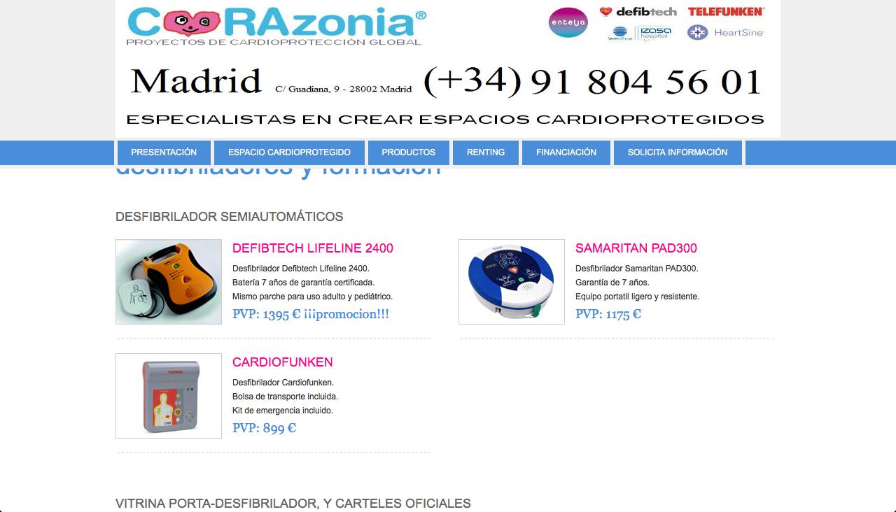 www.directoriopax.com Desfibriladores Madrid
