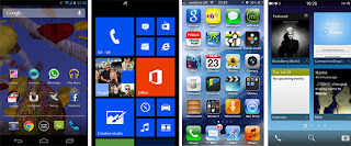 Perbandingan Tampilan BlackBerry 10 vs Android, iOS dan WP8