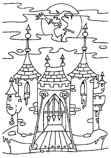 Disney Coloring Pages : Castle Residence Of Kings and Princess.