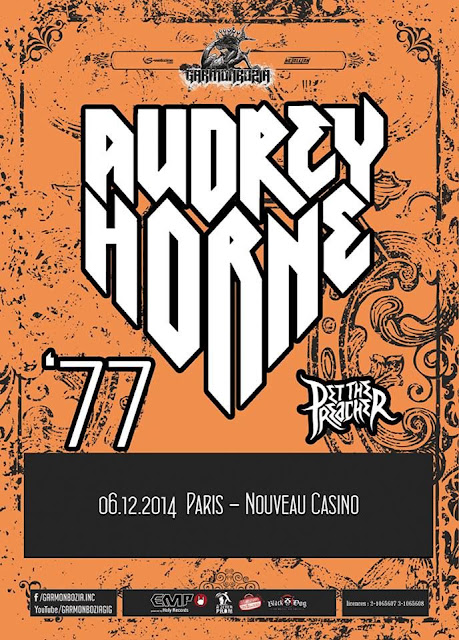 Audrey Horne / '77 / Pet The Preacher @ Nouveau Casino, Paris 06/12/2014