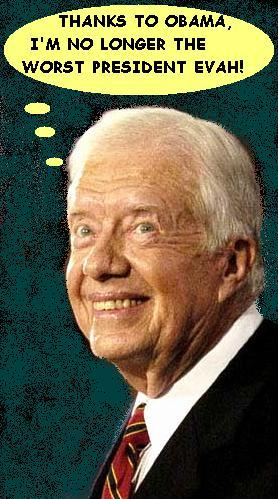 Jimmy carter thank god I m no longer the worst