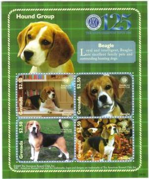 2009年グレナダ ビーグルの切手シート