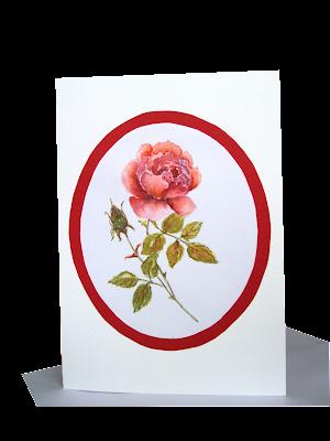 rose,single,love,design,handmade,card,flower,pink,red