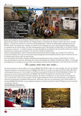 Festival MEME PAS PEUR 2014 dans Le Journal Municipal de Saint-Philippe