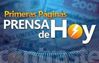 ÚNICAMENTE PRIMERAS PÁGINAS ACTUALIZADAS HOY