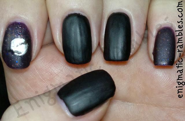 Halloween-Bat-bats-nails-nail-art-stamped-b116-orly-fowl-play-matte