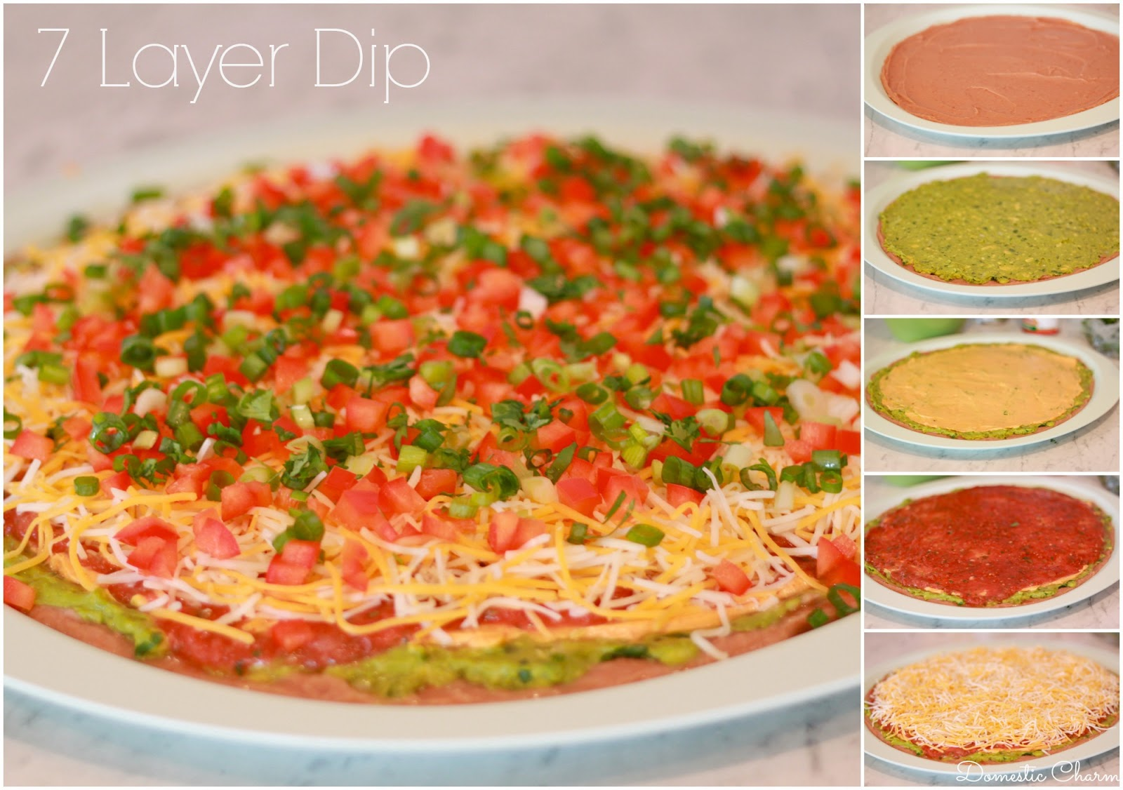 classic recipe that always gets eaten up at parties 7 layer dip i ...