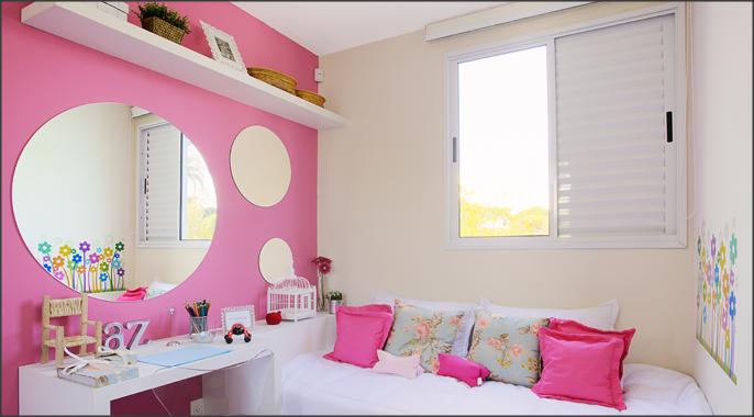 Sua Casa , Seu Espelho Decoração cor de rosa ~ Como Fazer Um Quarto Rosa Habblive