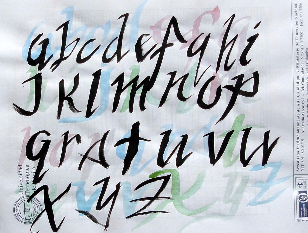 caligrafia arte y diseo Lettering en clase de dibujo