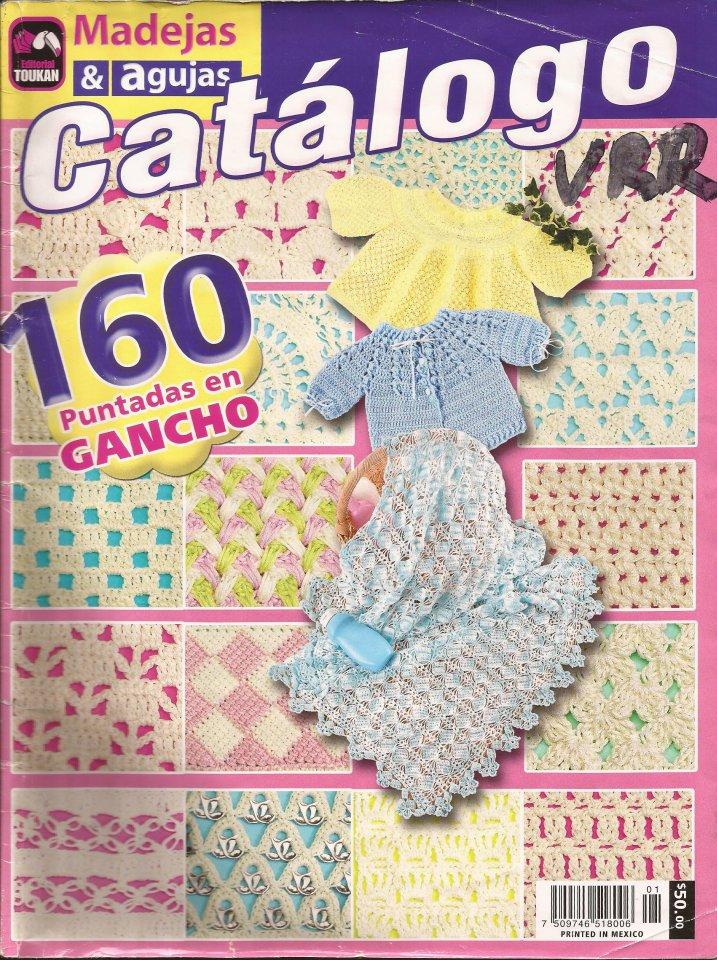 Revista: Madejas y agujas - 160 puntadas en gancho imperdible!!!
