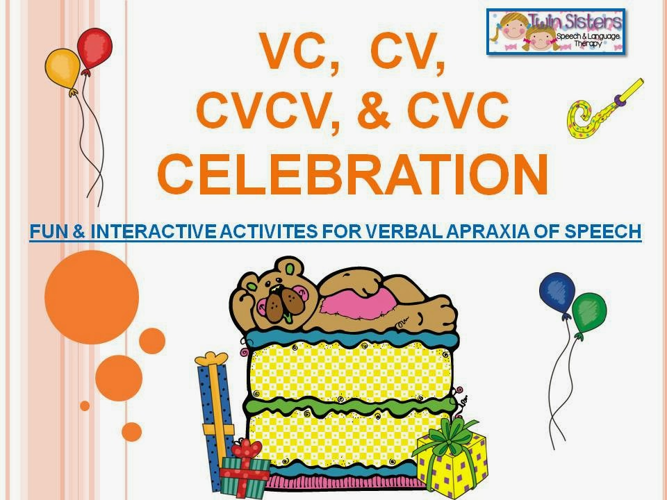 VC, CV, CVCV, U0026 CVC CELEBRATION  Fun And Interactive Activities For Verbal  Apraxia Of Speech  Cv Words