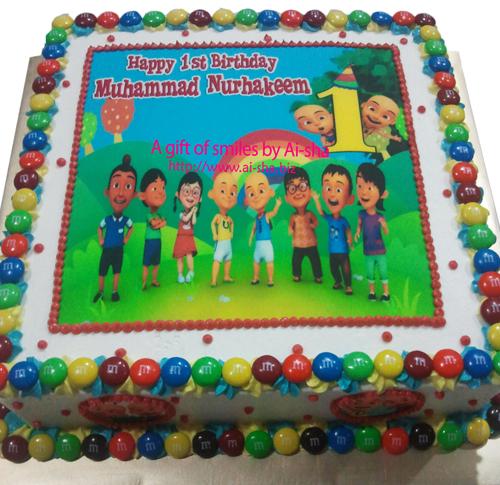 Birthday Cake Edible Image Upin Ipin Happy 1st Birthday Muhammad
